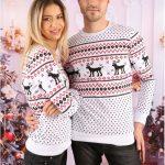 Seturi de bluze Craciun Family Runny alb