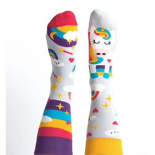 Idei Cadouri de Craciun  Sosete colorate cu unicorn Nanushki Unicorn