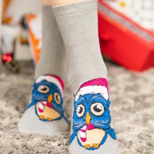 Idei Cadouri de Craciun  Sosete de craciun cu bufnita si caciulita Socks Concept SC-NL03