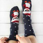 Sosete de craciun cu buline si pinguin Socks Concept SC-NL17