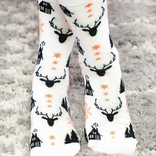 Idei Cadouri de Craciun  Sosete de craciun cu cerb si bradulet Socks Concept SC-NL20