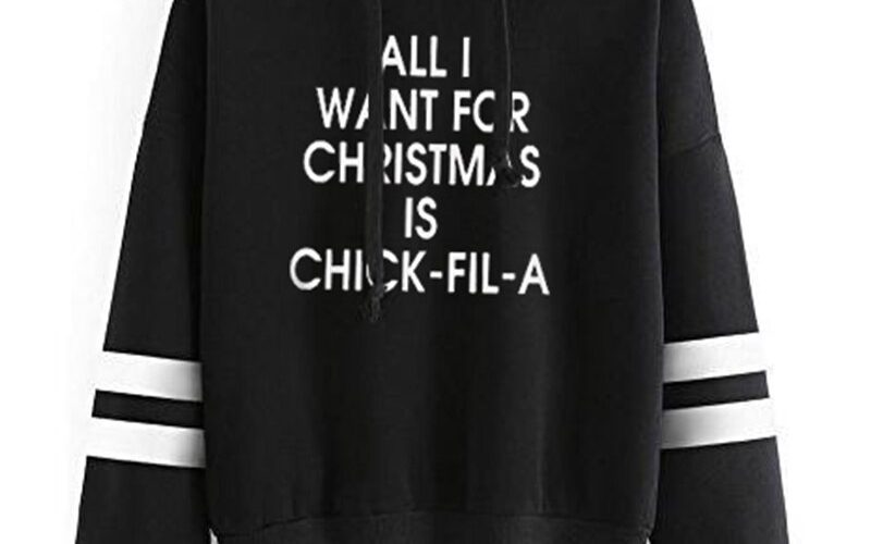 All I Want for Christmas Is Chick Fil A Oversized Hoodie Streetwear Women Aesthetic Girls Sweatshirt Print Pullover Harajuku