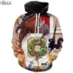 Pulovere de Craciun HX Animals Horses Christmas 3D All Over Printed Unisex Hoodie Hooded Sweatshirt Zip Pullover Casual Jacket Tracksuit Shipping Drop